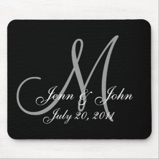 Wedding Monogram Bride Groom Names Date  Mouse Pad