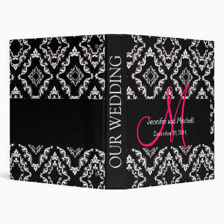Wedding Monogram Diamond Damask Planner Binder