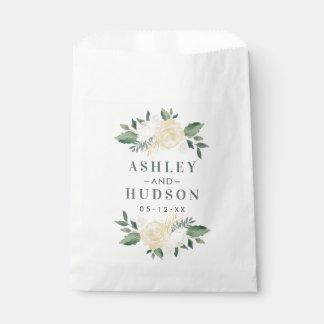 Wedding Monogram | Neutral Blooms Favour Bag
