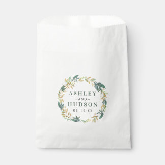 Wedding Monogram | Neutral Blooms Wreath Favour Bag