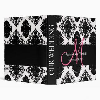 Wedding Monograms Damask Pink Planner Binders