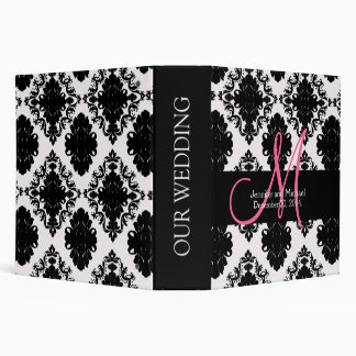 Wedding Monograms Damask Planner 2 in. Binders