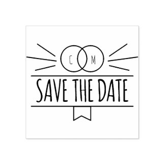 Wedding Monograms. Save the Date. Typography. Rubber Stamp