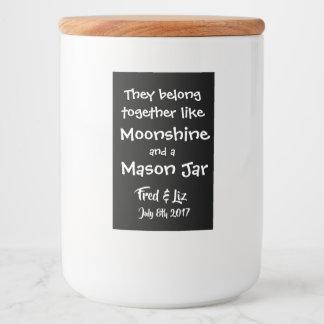 Wedding Moonshine Jar Labels