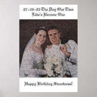 Wedding Mosaic Poster