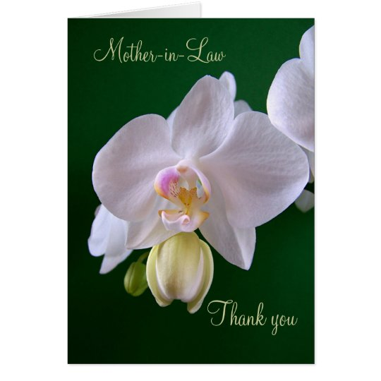 Wedding. Mother-in-Law. Thank you Card with Orchid