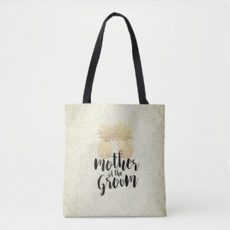 Wedding Mother of the Groom Vintage Gold Pineapple Tote Bag