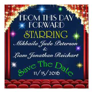 Wedding Movie Theater Save the Date Magnet Magnetic Invitations