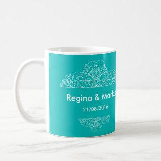 Wedding Mug Tiffany Blue