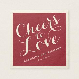 Wedding Napkins | Marsala Cheers to Love Paper Napkin