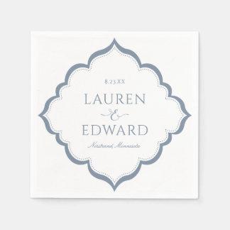 Wedding Napkins | Simple Elegance (Dusty Blue)