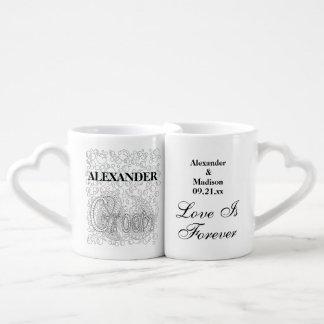 Wedding   Newlyweds Bride And Groom Personalized Coffee Mug Set