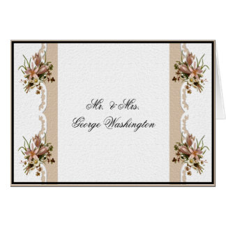 Wedding Note & Thank You Card Template