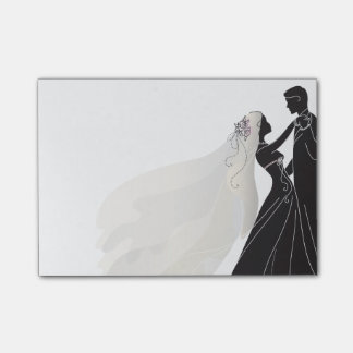 Wedding Notes W/ Bride & Groom 1 - Post-it Notes