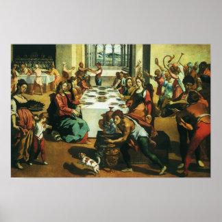 Wedding of Cana by Andrea Boscoli, Renaissance Art Poster
