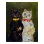 Wedding of Cat, Louis Wain Poster
