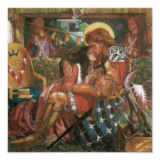 Wedding of St George, Princess Sabra by Rossetti Card
