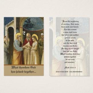 Wedding of St. Joseph & Mary Holy Cards