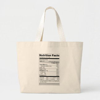 Wedding or Anniversary Sweet Funny Nutrition Label Jumbo Tote Bag