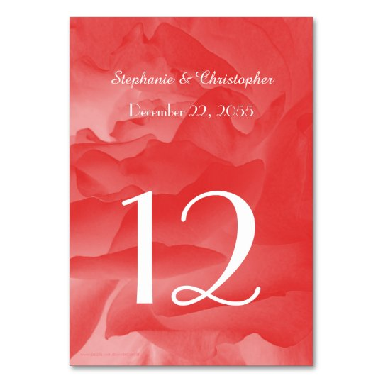 Wedding or Anniversary Table Number