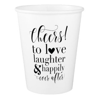 Wedding or Bridal Shower Paper Cup
