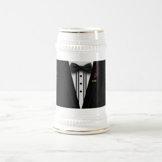 Wedding or Special Occasion Monogram Tuxedo Beer Stein