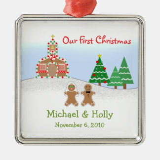 Wedding Ornament - Gingerbread Bride & Groom