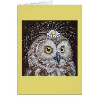 wedding owl card
