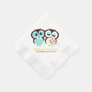 Wedding Owls Disposable Napkins