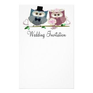 Wedding Owls Personalised Wedding Stationary Personalized Stationery