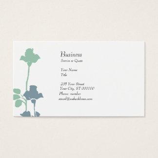 Wedding Pale Pastel Roses Boutique Business Card