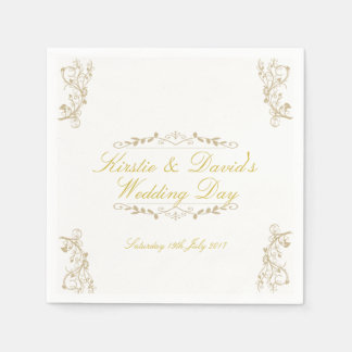 Wedding Paper Napkins with ornate decorations