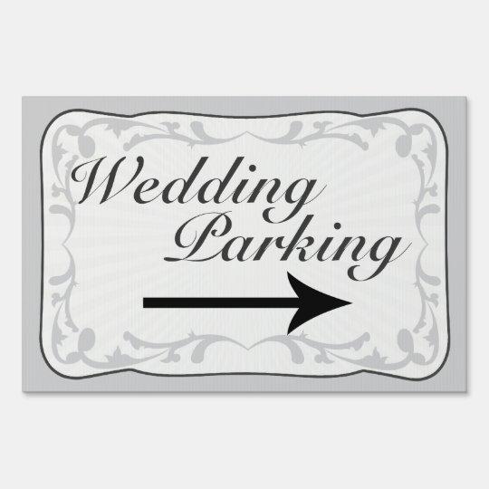 Wedding Parking Sign, Directional Arrow Sign