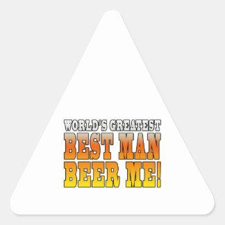 Wedding Parties Favors : Worlds Greatest Best Man Triangle Sticker