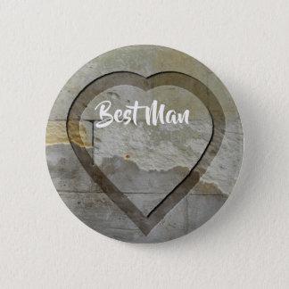 Wedding Party Keepsakes Stone Heart 2 Inch Round Button