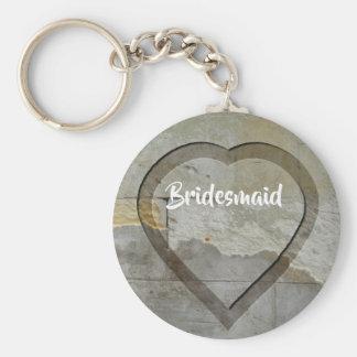 Wedding Party Keepsakes Stone Heart Keychain