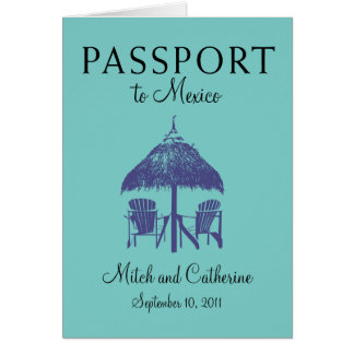 Wedding Passport Invitation to Cancun Mexico