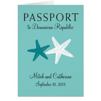 Wedding Passport Invitation to Dominican Republic