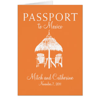 Wedding Passport Invitation to Mexico