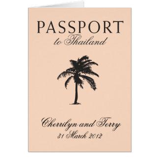 Wedding Passport Invitation to Thailand