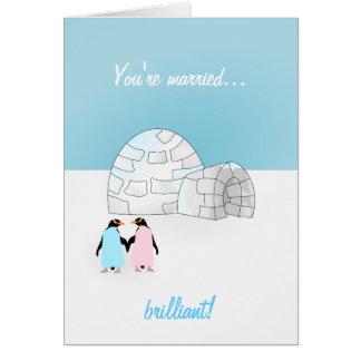 Wedding Penguin card