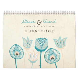 Wedding Personalized Photo Guest Book Guestbook Wall Calendars