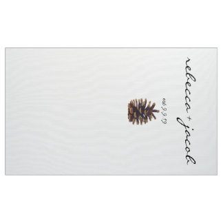 Wedding Photo Backdrop Painted Pine Cone