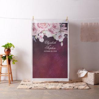 Wedding Photo Booth Backdrop Boho Floral Burgundy