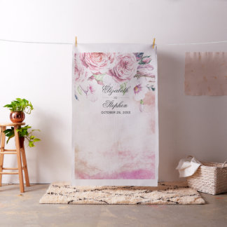 Wedding Photo Booth Backdrop Boho Floral Feathers