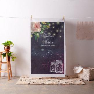 Wedding Photo Booth Backdrop Chic Floral Mason Jar