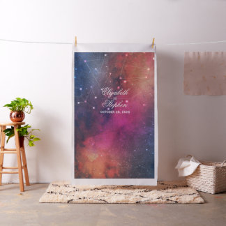 Wedding Photo Booth Backdrop Galaxy Constellations