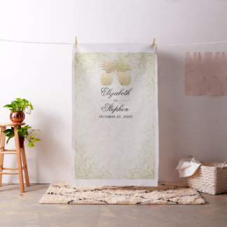 Wedding Photo Booth Backdrop Modern Gold Pineapple