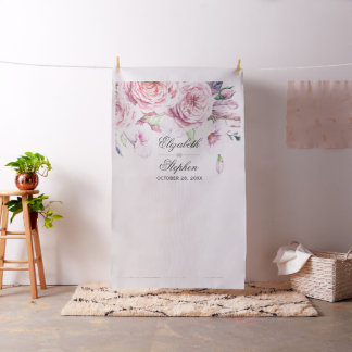 Wedding Photo Booth Backdrop Watercolor Floral