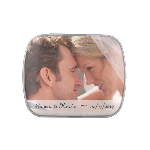 Wedding Photo Candy Tins